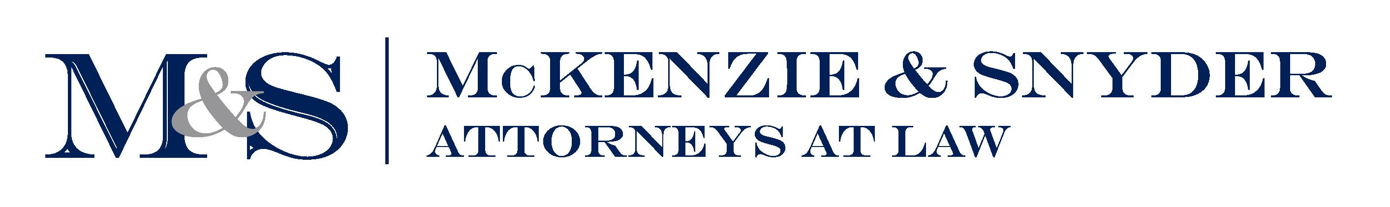 Mckenzie & Snyder LLP Logo